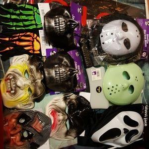 Halloween Lot #2 Mask and Makeup Lot